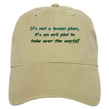 Evil lesson plan, teacher gift Baseball Cap