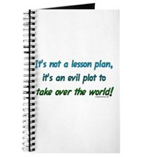 Evil lesson plan, teacher gift Journal