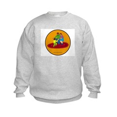 Parents and Child Kids Sweatshirt