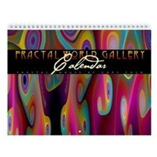Fractal World Gallery Wall Calendar