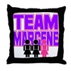 Team Margene Throw Pillow