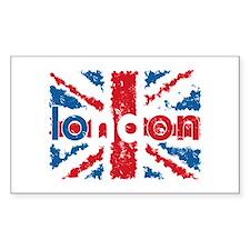 UK Flag - London Rectangle Decal