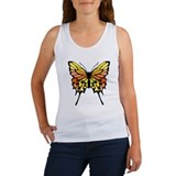 Orange Butterfly Women's Tank Top