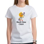 Mardi Gras Chick Women's T-Shirt