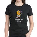 Mardi Gras Chick Women's Dark T-Shirt