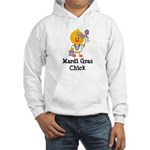 Mardi Gras Chick Hooded Sweatshirt