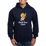 Mardi Gras Chick Hoodie (dark)
