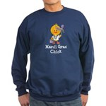 Mardi Gras Chick Sweatshirt (dark)
