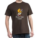 Mardi Gras Chick Dark T-Shirt