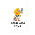 Mardi Gras Chick Rectangle Sticker 50 pk)