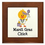 Mardi Gras Chick Framed Tile