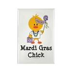 Mardi Gras Chick Rectangle Magnet (10 pack)
