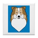 Obedience Sheltie Tile Coaster
