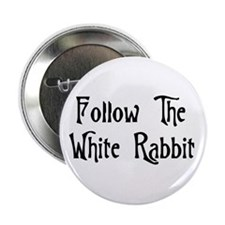 """Follow The White Rabbit 2.25"""" Button (100 pack)"""