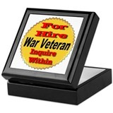 For Hire War Veteran Keepsake Box