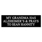 Hannity Crazy Bumper Sticker