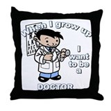 When I grow up Doctor Throw Pillow