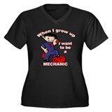 When I grow up Mechanic Women's Plus Size V-Neck D