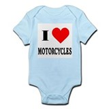 I Love Motorcycles! Infant Creeper