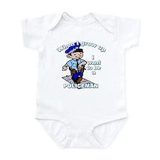 When I grow up Policeman Infant Bodysuit