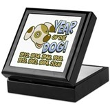 Year of Dog Cartoon Keepsake Box