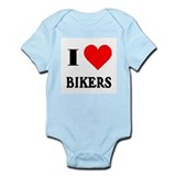 I Love Bikers! Infant Creeper