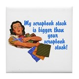 Scrapbook Stash Tile Coaster