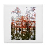 Louisiana Cypress Tile Coaster