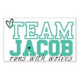 Team Jacob Rectangle Decal