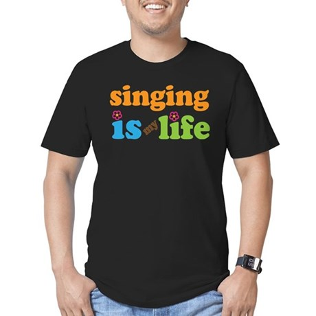Singing is my Life Men's Fitted T-Shirt (dark)