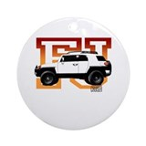 FJ Cruiser Red-Orange Ornament (Round)