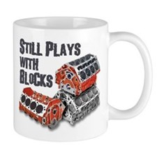 Still Plays With Blocks Mug