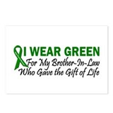 I Wear Green Brother-In-Law Organ Donor Postcards