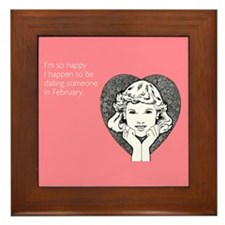 Happy Dating Framed Tile