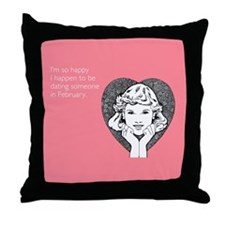 Happy Dating Throw Pillow