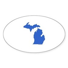 Michigan Peninsulas blue Oval Decal