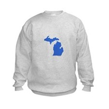 Michigan Peninsulas blue Sweatshirt