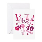 Party 40 Rocks Birthday Greeting Card