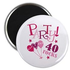 Party 40 Rocks Birthday Magnet