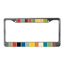 Color Block Fun License Plate Frame