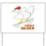 Sk8er Rooster Yard Sign