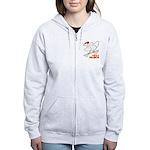 Sk8er Rooster Women's Zip Hoodie