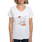 Sk8er Rooster Women's V-Neck T-Shirt