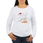 Sk8er Rooster Women's Long Sleeve T-Shirt