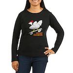 Sk8er Rooster Women's Long Sleeve Dark T-Shirt