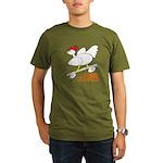 Sk8er Rooster Organic Men's T-Shirt (dark)