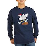 Sk8er Rooster Long Sleeve Dark T-Shirt