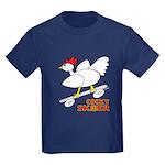 Sk8er Rooster Kids Dark T-Shirt