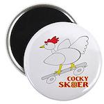 """Sk8er Rooster 2.25"""" Magnet (100 pack)"""