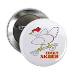 "Sk8er Rooster 2.25"" Button (100 pack)"